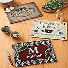 Personalized Kitchen Glass Cutting Board