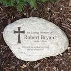 Small Engraved Cross Memorial Garden Stone
