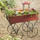 Miniature Fairy Garden Metal Push Cart