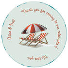 Personalized Dance Floor Decal with Beach Deck Chair Design
