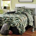 Complete Full Camo Bed Set