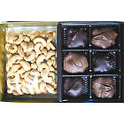 Chocolate Turtle Candy and Cashew Nuts Gift Box