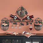 Vineyard Wall Wine & Stemware Holder
