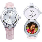 Ladies Photo Keepsake Watch with Secret Compartment