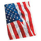Patriotic Garden Flag with Fireworks Design