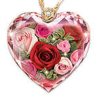 Love Blooms Forever Diamond Crystal Pendant