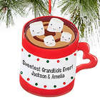 Personalized Marshmallows and Cocoa Ornament
