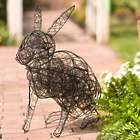 Wire Rabbit Garden Sculpture