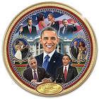"America's 44th President Barack Obama 12"" Porcelain Plate"