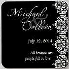 Wedding Couple Personalized Coaster Favors