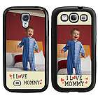 I Love Mommy Personalized Galaxy S3-S4 Case