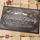 Personalized Haunted Halloween Doormat