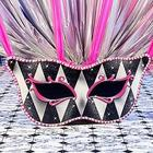 Harlequin Masquerade Mask Standee Party Prop