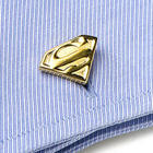 Gold Plated Superman Shield Cufflinks