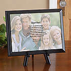 Father's and Grandfather's Personalized Photo Poetry Plaque