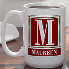 Letter Perfect Personalized Large Coffee Mug