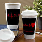 The Heart of Caring Personalized Personalized Travel Tumbler