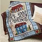 Personalized Road Between Friends Throw Blanket
