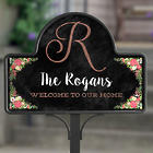 Posh Floral Welcome Personalized Yard Stake with Magnet