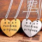Best B*tches Heart Necklace Set