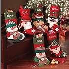 Personalized Big Face Plush Christmas Stockings