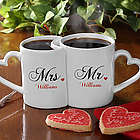 Romantic Husband and Wife Personalized Coffee Mugs