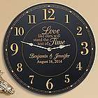 Personalized Test of Time Wedding Clock