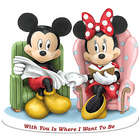 Mickey Mouse and Minnie With You is Where I Want to Be Figurine