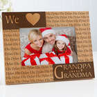 Loving Hearts Personalized Wood Picture Frame