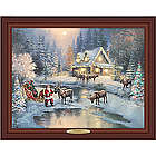 Thomas Kinkade Christmas at Deer Creek Lighted Canvas Print