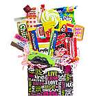 Chalkboard Sweet Sentiments Retro Candy Gift Basket