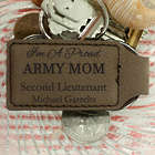 Proud Military Mom's Personalized Leather Key Chain
