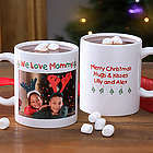 Christmas Photo Wishes Personalized Coffee Mug