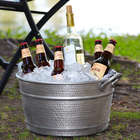 Round Hammered Patio Beverage Tub