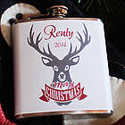Personalized Reindeer Merry Christmas Flask