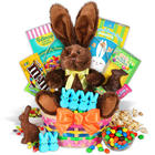 Easter Candy Gift Basket with Plush Bunny