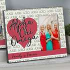 Personalized Alpha Chi Omega Sorority 4x6 Picture Frame