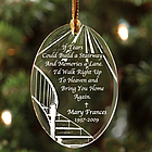 Personalized Stairway Memorial Glass Ornament