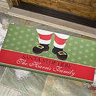 Santa Stop Here Personalized Oversized Doormat