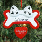 Dog Gone Cute Personalized Ornament