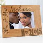 Personalized Our Wedding Date Wood Picture Frame