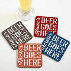 Personalized Beer Goes Here Bar Coasters