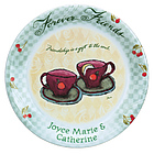 Personalized Forever Friends Plate