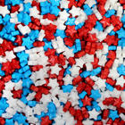 5 Pounds of Red, White, and Blue Hard Star Candies