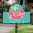Personalized Simply Summer Garden Stake with Magnet