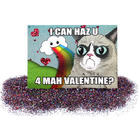 Valentine's Day Glitter Bomb and Grumpy Cat Card