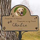 Pawprints in Heaven Pet Memorial Photo Magnet