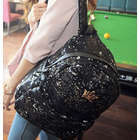 Midnight Black Sequin Backpack