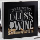 Personalized There's Always Time For Wine Cork Shadow Box