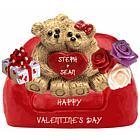 Loving Teddy Bear Couple Personalized Keepsake